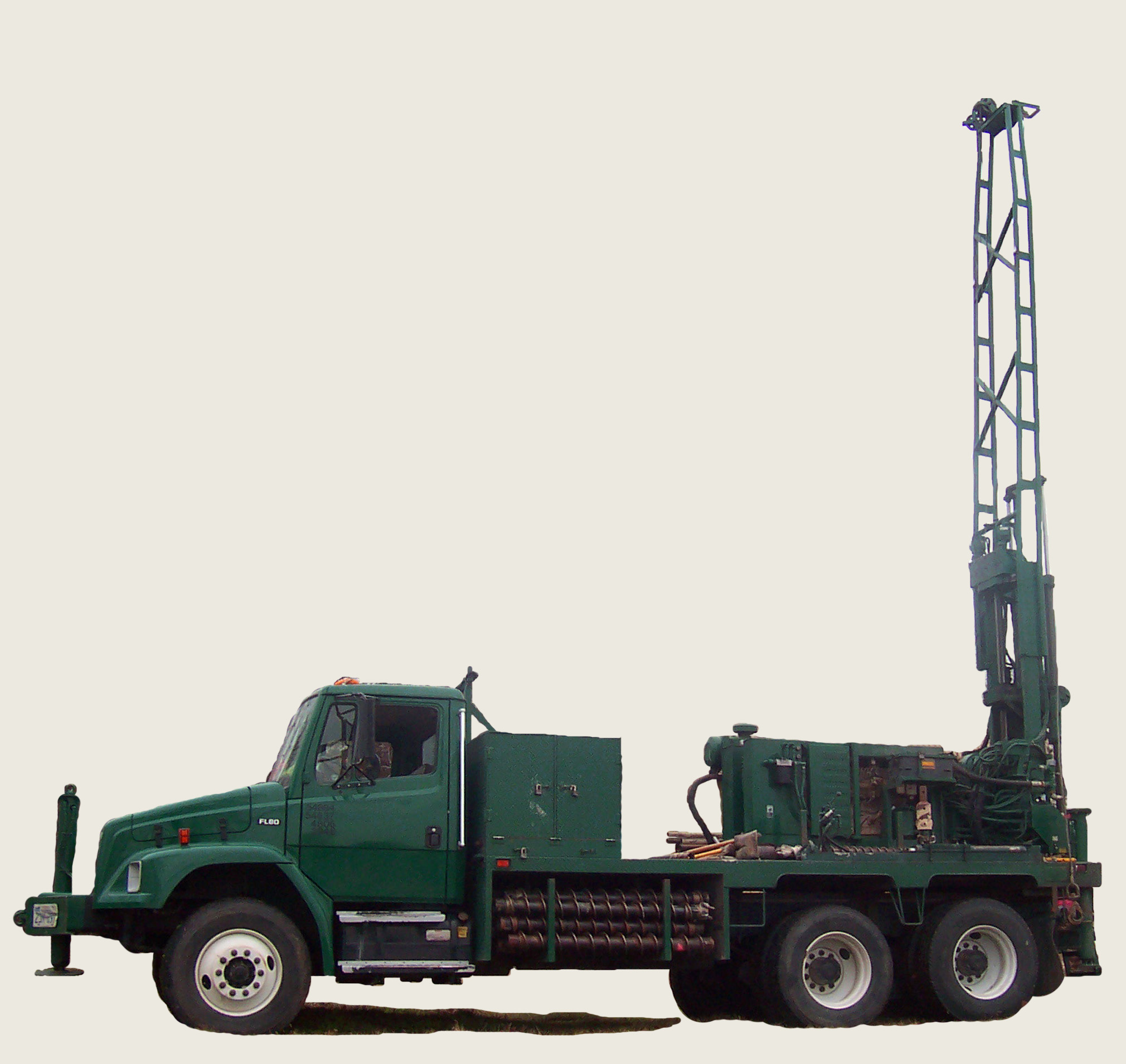 A Mobile Drilling Rig, Drilling Core Samples On A Gold Mining